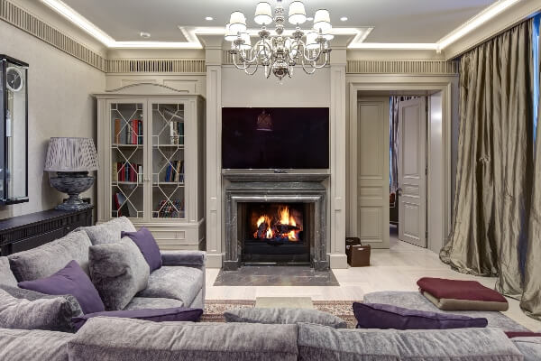 A fireplace can set a living room apart from the others.
