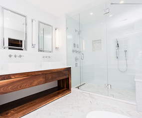 Image of bathroom with walk-in shower